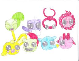 all htf digimon by anolelightdragon