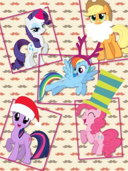 Merry Christmas from the ponies! by ColdestAndOldest