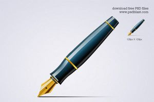 Pen Icon (PSD) by psdblast
