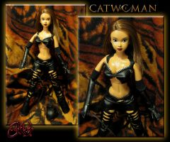 Catwoman Patience Phillips Custom Doll Unmasked by jvcustoms