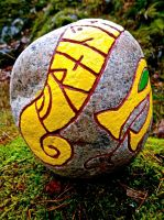 How to carve a rune stone, The finished stone 4 by chricko