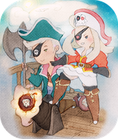 Bravely Pirates by KHMarieXII