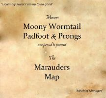The Marauders Map. by KatieRosex