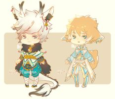 Auction : RandomMale Chibi Set 4 [CLOSED] by HyRei