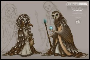 Owls Character Design by Nekranea