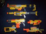 My collection of Nerf guns by 00j666
