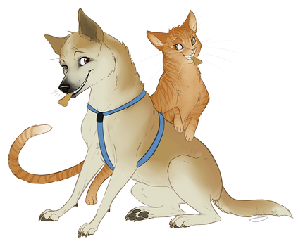 Tanner And Singe by VanyCat
