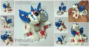Patriotic Dragon by lizzarddesigns