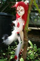 Okami Amaterasu Monster High Custom OOAK Anthro by AdeCiroDesigns