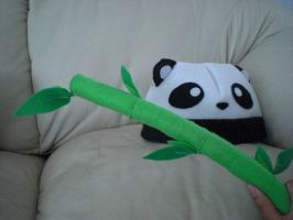 panda hat and bamboo plushie by chococat830