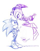 Sonic and Nights doodle by idolnya