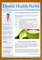 Dentist and Dental Newsletter Template by danbradster