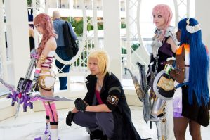 Serah Farron, Snow, Lightning, and Paddra Nsu-Yeul by EminenceRain