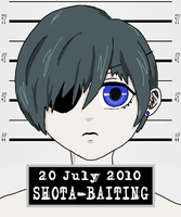 Ciel Phantomhive: Mugshot by virtualpapercut