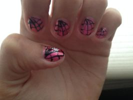 Spiderweb nails by Prince5s