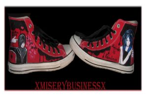 Emo Shoes by XMiserybusinessX