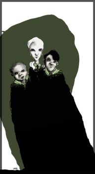 Malfoy, Crabbe and Goyle by septra