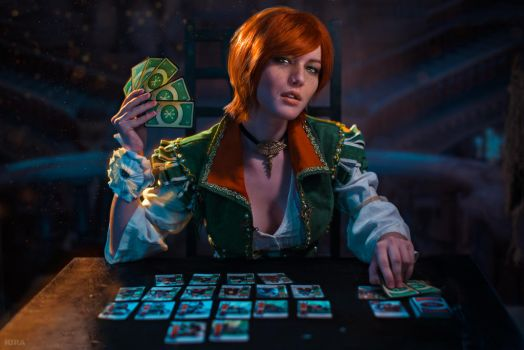 Will we play GWENT? Shani Witcher COSPLAY by Lyumos