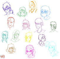 : Face Practice : by East-and-West