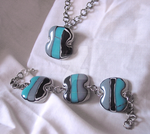 Ocean bracelet and necklace by DreamsAreWishes
