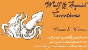 Wolf and Squid Business Card by WolfandSquid