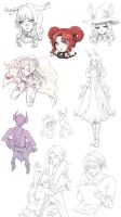 a bunch of tera sketches by nipuni
