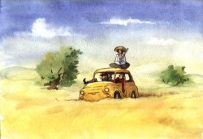 lupin III watercolour yellow by Masha-Ko