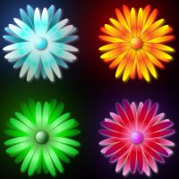 digital flowers by etiark