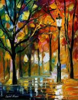 Park 4 by Leonid Afremov by Leonidafremov