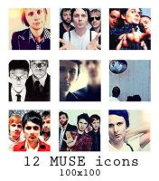 12 Muse icons - 100x100 by The-Shadowsea