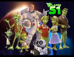 Planet 51: Greetings Lifeforms from Planet 51 by Kyukitsune