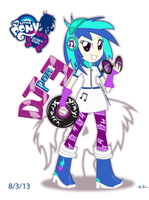 EG DJ pon-3 Vinyl Scratch (Equestria Girls) by Arteses-Canvas
