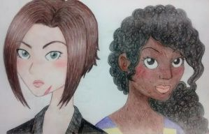 Heather and Bonnie - Portraits by sofalart