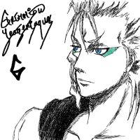Quick Grimmjow doodle by Katakanion