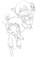Mika and Voodoo-chan: SKETCH by ALA69