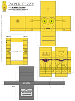 Paper Pezzy- C-3PO by CyberDrone