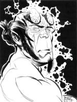 hellboy inks by BrentMcKee