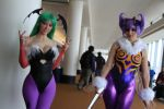 PAX East 2013 - Morrigan and Q-Bee 3 by VideoGameStupid