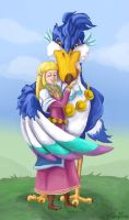 Zelda and her Loftwing by Farlo