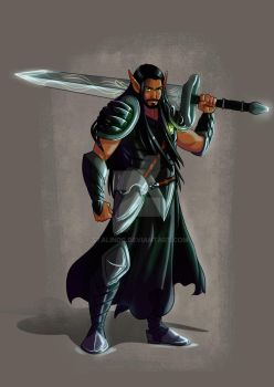 Martin Nightshade.. the King's Blade! by StalinDC