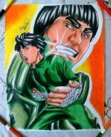 ROCK LEE E MAITO GAI by powre