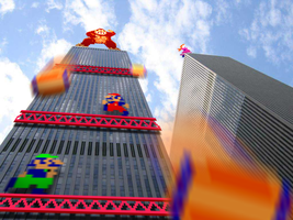 "Retro Tower ""Donkey Kong"" by RETROnoob"