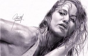 Jennifer Lawrence portrait by ParaguayDraw