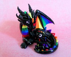 Mama and baby rainbow dragons by DragonsAndBeasties