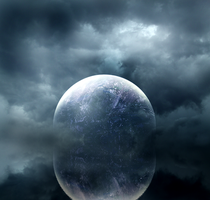 moon waterscape premade background by yellowicous-stock