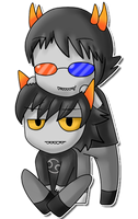 Sollux and Karkat by silvazelover2