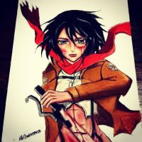 mikasa by queentinkerbeth