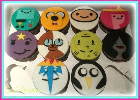 Adventure Time Cupcakes by gertygetsgangster