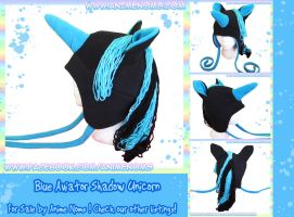 Blue Shadow Unicorn Pony Hat by AnimeNomNoms