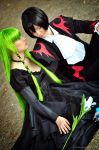 Lelouch Lamperouge and C.C. by The-Ly